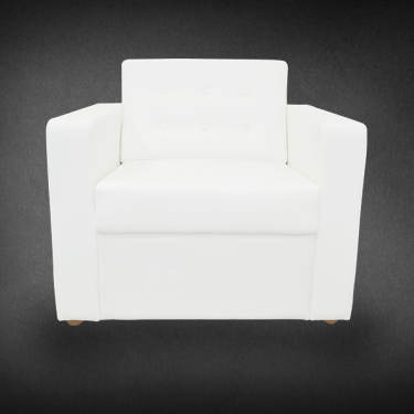 Amber Single White Sofa