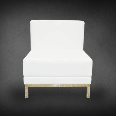 Single Center White Sofa