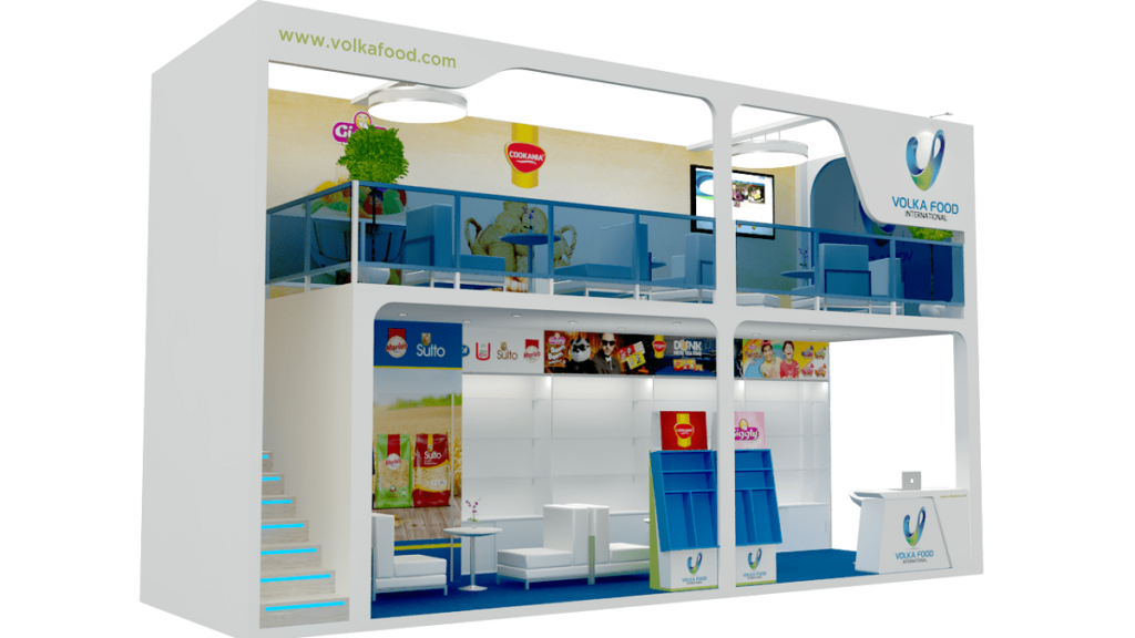 Exhibition Stand Website : Volka food u exhibition stand design u tip top advertising events