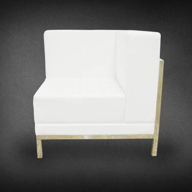 Single Corner White Sofa