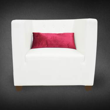 Drew Sofa with Red Velvet Cushion