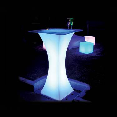 LED Square Cocktail Table