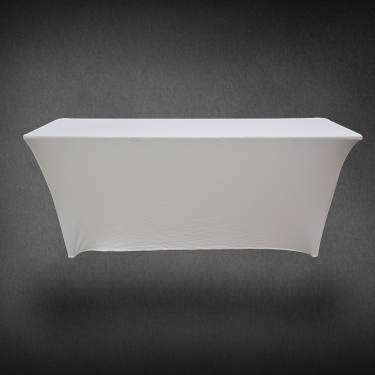 Table Cover White Spandex