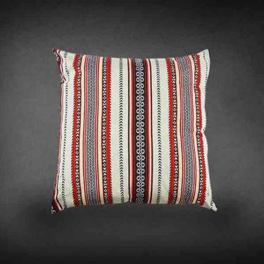 Oriental Cushion White & Red